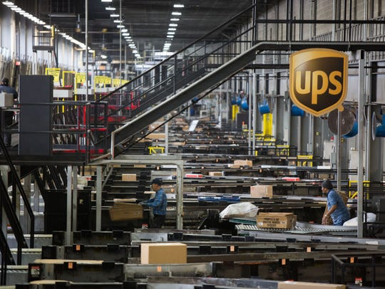 UPS' largest ground package processing facility in