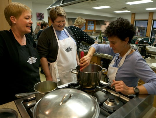 Leigh Barnhart Ochs, left, director of The Cooking
