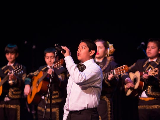 The Mariachi Juvenil de Mi Tierra performs during the La Gran Fiesta at the Scottsdale Center for the Performing Arts, Sunday, March 1, 2015, in Scottsdale, Ariz.
