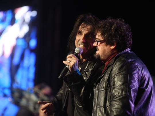 Alice Cooper performs at the Patrick Warburton celebrity golf tournament  jam session at JW Desert Springs in Palm Desert March 6, 2015.