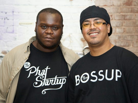 Phat Startup co-founders Anthony Frasier, left, and