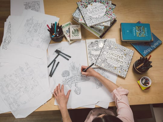 Johanna Basford Working One Of Her Hand Drawn Illustrations