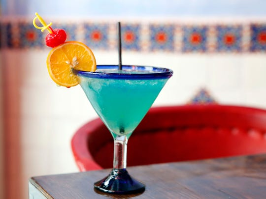 A Blue Moon margarita at Rio Bravo Tacos and Tequila
