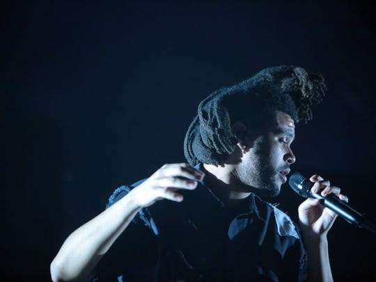 The Weeknd performs at the second Saturday of the Coachella