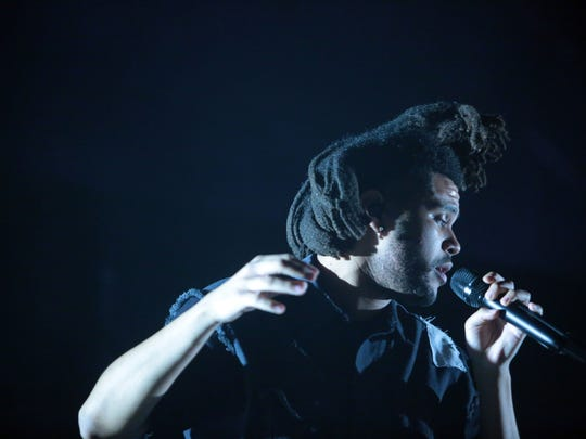The Weeknd performs at the second Saturday of the Coachella Valley Music and Arts Festival in Indio.
