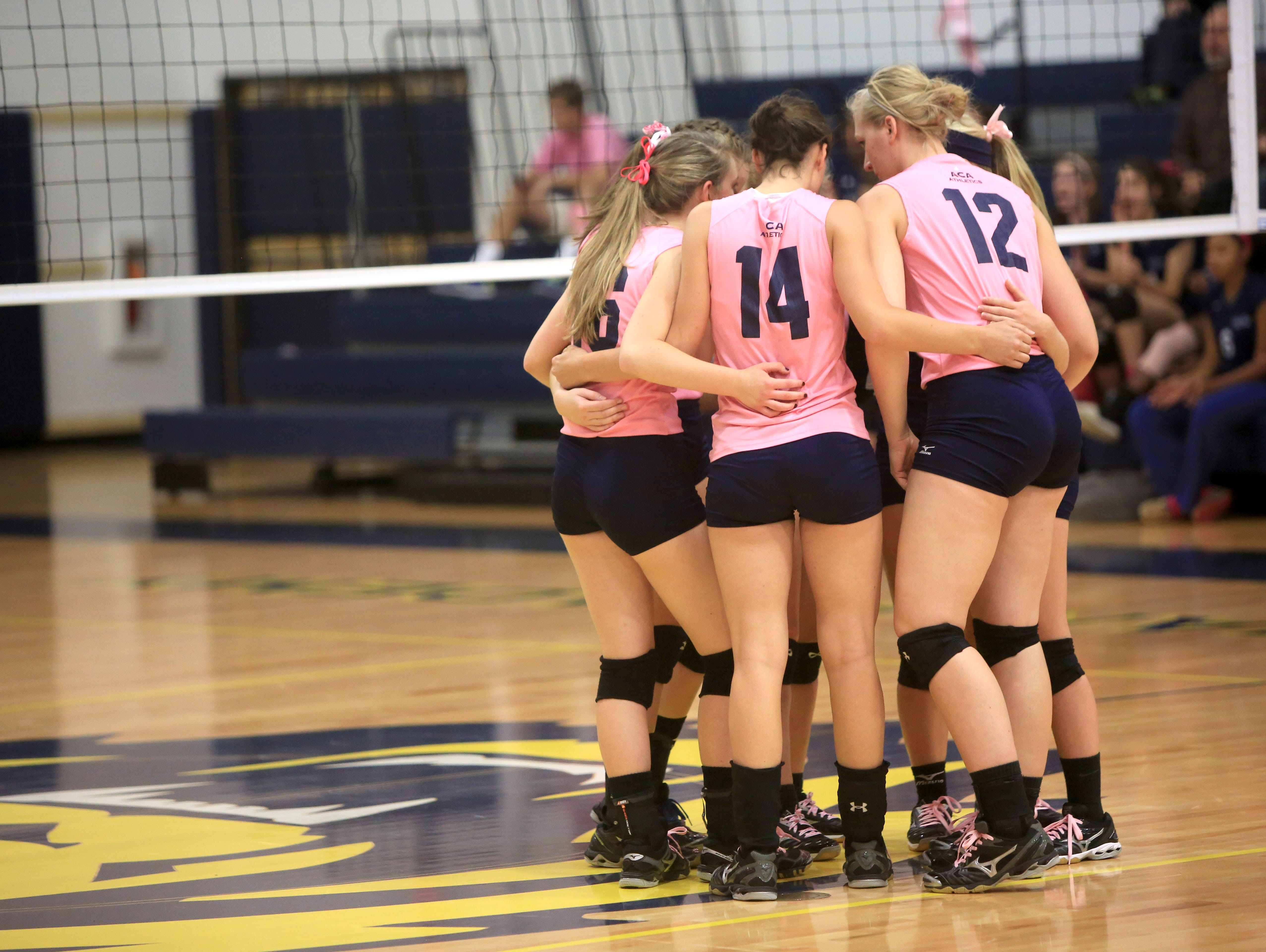 The Asheville Christian Academy volleyball team.