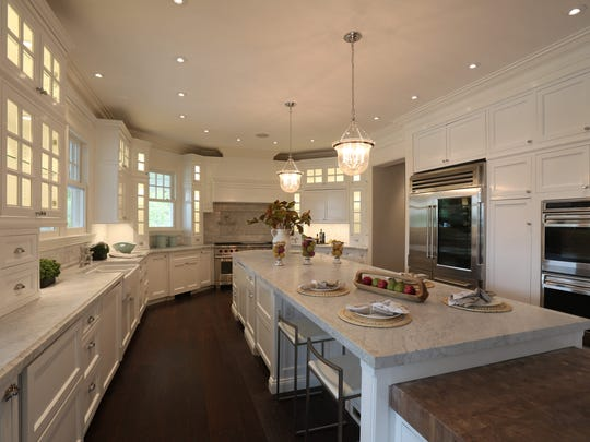 The kitchen in the first completed estates at Greystone on Hudson, a new high-end gated community on 100 acres in Tarrytown, The home sold for over $9 million earlier this year.