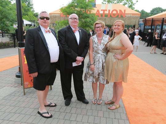 Left to right, Phil Cagle, Steve Cagle, Amy Cagle, Angie Cagle attend the Zoobilation Boomerang Bash.