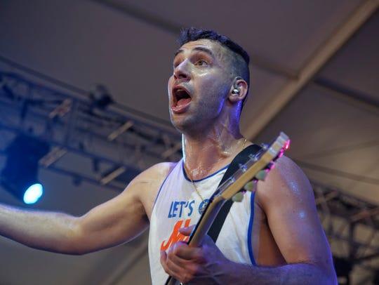 Jack Antonoff, of Bleachers, performs at Bonnaroo on