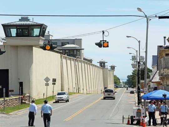 The exterior of the maximum-security Clinton Correctional