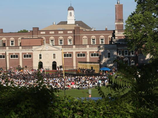 Mamaroneck High School commencement ceremony at the high school June 24, 2015.