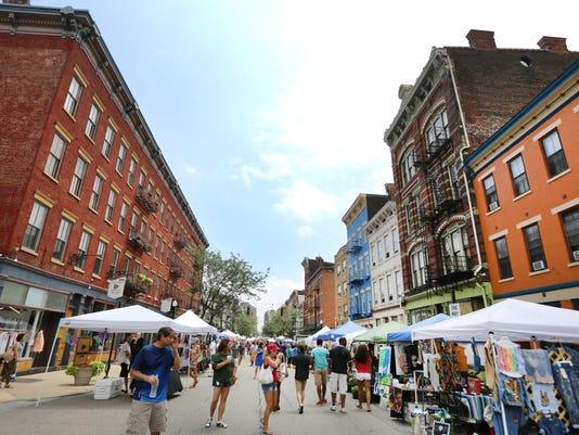 July 12, 2015. OTR, Main Street, Second Sunday on Main, Liz Dufour