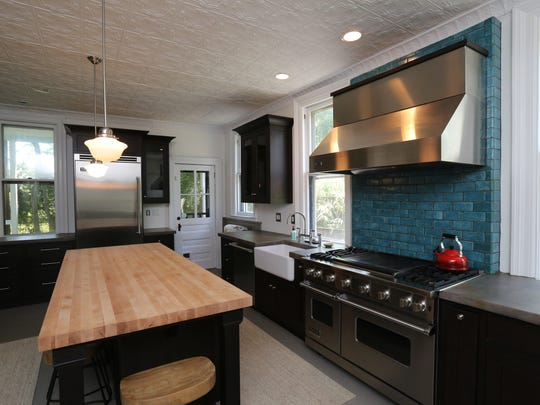 The unique kitchen in a 1890 Victorian home in Nyack was created by former owner, indie singer Ingrid Michaelson.
