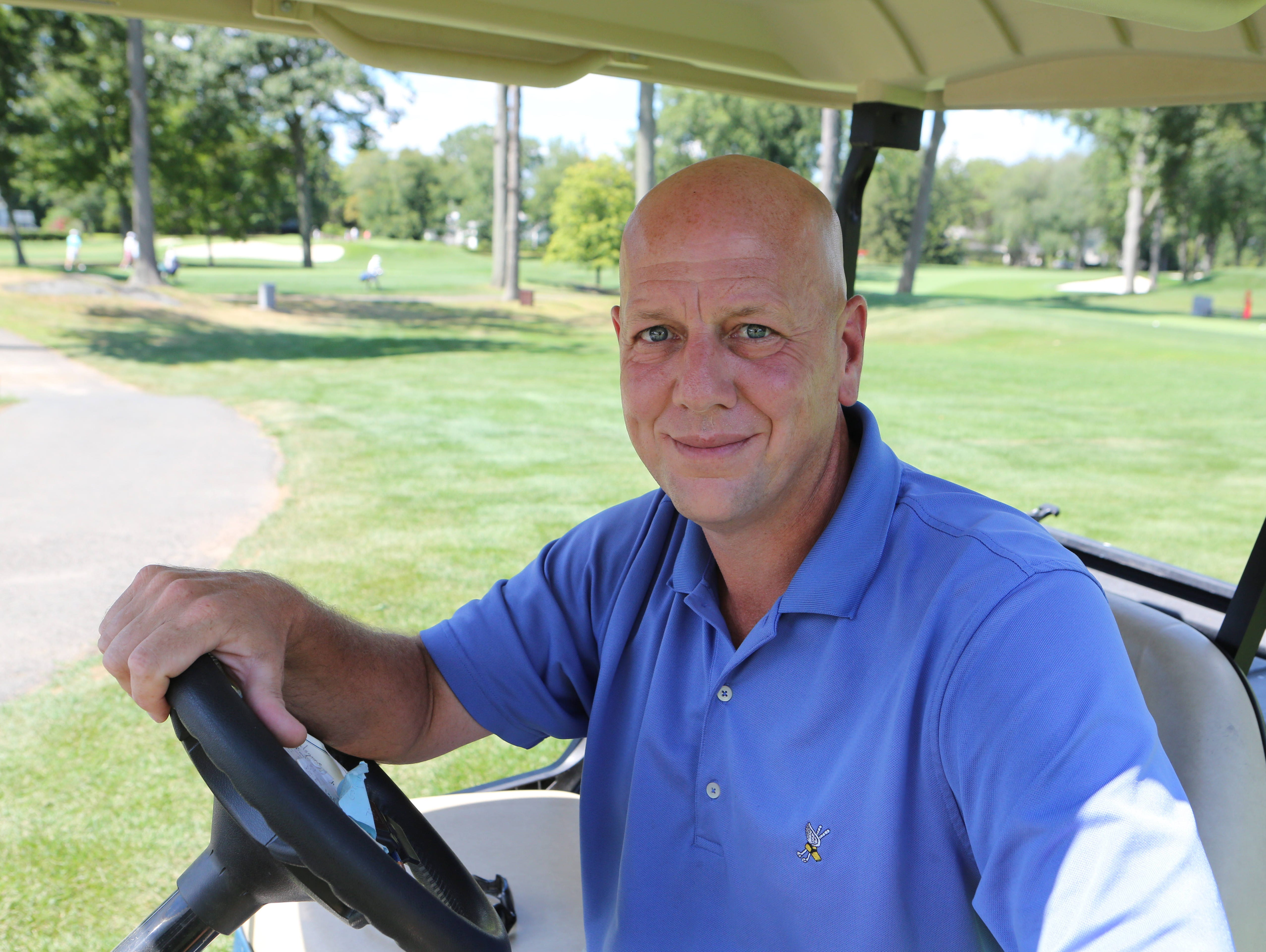 Stephen Rabideau, the director of golf courses at the Winged Foot Golf Club in Mamaroneck, is pictured on the East Course Aug. 13, 2015. The East Course, recently restored, is hosting the USGA Four-Ball Championship next spring.
