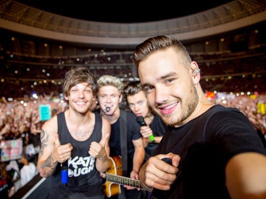 From left:  Louis Tomlinson, Niall Horan, Harry Styles and Liam Payne of One Direction.