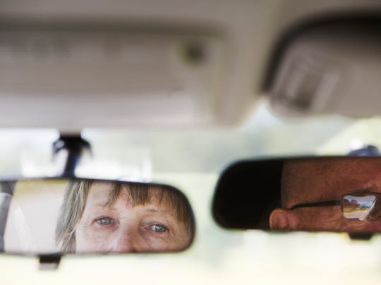 Frances Donovan, a Fort Myers resident takes a driving course with instructor Jay Anderson.