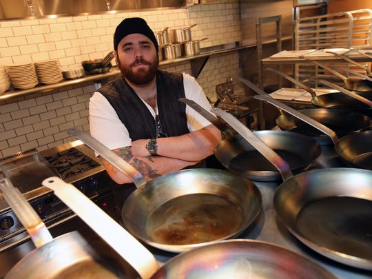 Chef-owner Christian Petroni in the kitchen of Fortina