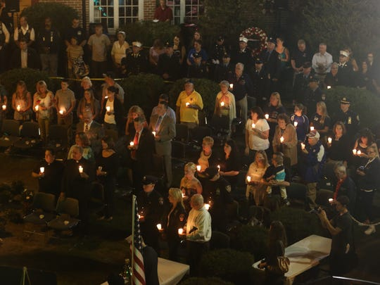 The annual Putnam County 9-11 Memorial Service at Cornerstone Park in Carmel.