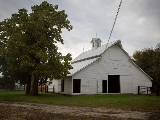 The Peters Barn, located at 19077 H Avenue near Perry, was purchased as part of a farm by Henry and Florence Spintig around 1903. The main buildings on the home site were present at that time. The barn has been used for farming by the same family since 1934. One of the unique features of the barn is that  it has cut out squares incorporated into the beams.