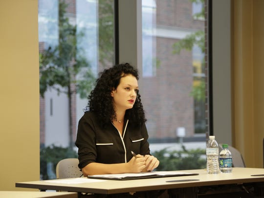 Purdue University student Joelle Jones debated two other students Sunday, Sept. 27, 2015 who are running for the West Lafayette City Council seat for District 3, which encompasses campus.