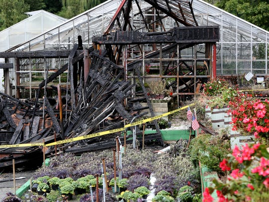 The scene at Sprainbrook Nursery in Scarsdale, Sept. 28, 2015 following last night's fire.