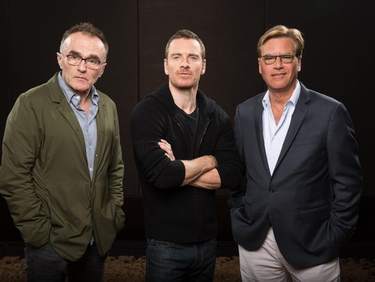 Director Danny Boyle (from left), actor Michael Fassbender