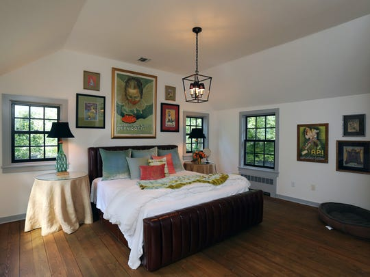 The master bedroom suite sits above the renovated kitchen.