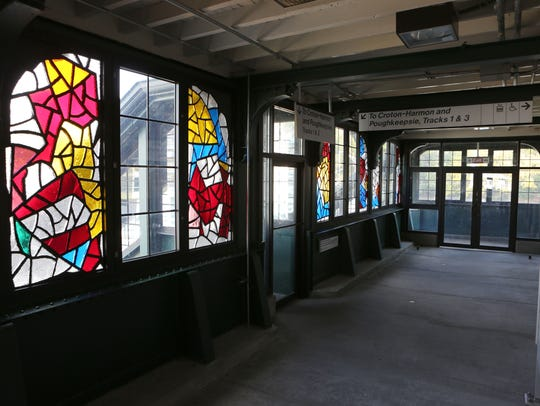 Faceted glass windows by artist Robert Goodnough decorate