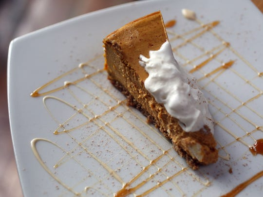 The house made Pumpkin Cheesecake with a spiced crust