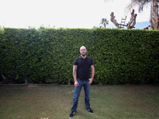 Palm Springs filmmaker Daniel Cardone at his home on Wednesday.