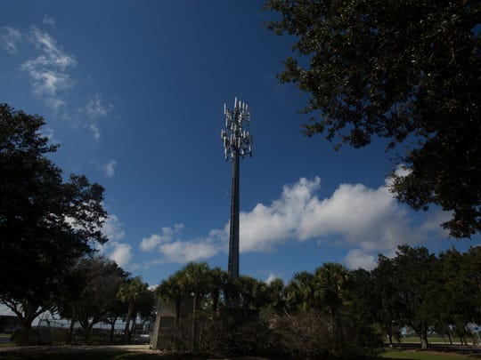 File photo of a cellular communications tower at Southwest