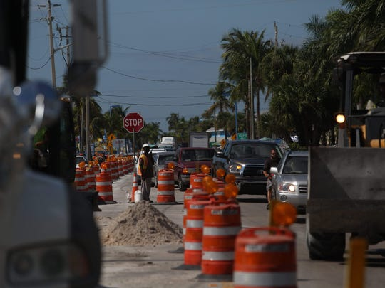 Traffic woes continue on Fort Myers Beach due to a utility construction project underway.  Construction along the critical one mile stretch of Estero Boulevard is taking longer than expected.