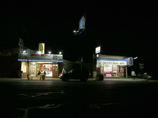 For years, the only light on this stretch of Woodward came from Dairy World, Dutch Girl Donuts and the headlights of passing cars.