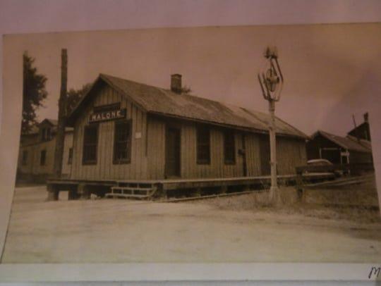 The train depot in Malone, where carloads of sugar
