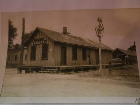 The train depot in Malone, where carloads of sugar