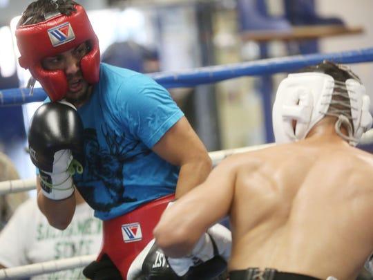 Randy Caballero trains at the Coachella Valley Boxing Club.
