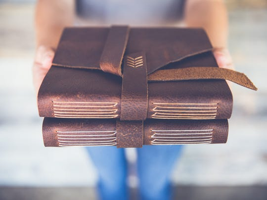 Handmade books make journals and photo albums even