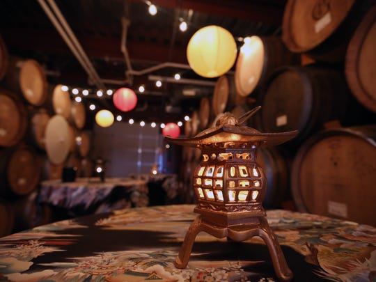 One of five different themed stations featured during a wine pairing event Saturday, Nov. 14, 2015, at Brooks Winery, featuring dishes by Statesman Journal Food, Wine & Beer Columnist Victor Panichkul.