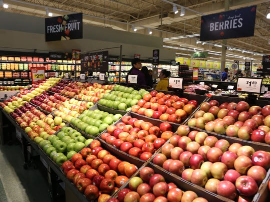 A variety of apples for sale at the Stop & Shop in Mount Kisco, Nov. 19, 2015. The store celebrated its grand opening today in what was formerly an A&P supermarket.