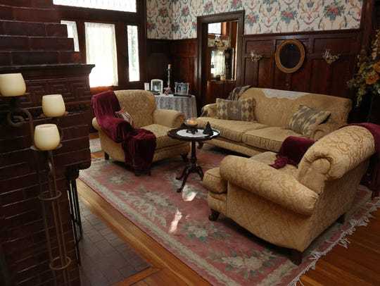 The main sitting room at the Fitzgerald House in Minden.