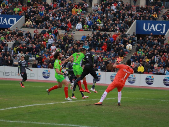 Mario Ortiz's header in the seventh minute of play