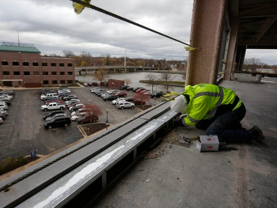 One Menasha Center is being built by Miron Construction.
