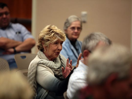 Reverend Lind Lee Allison attends a forum on Islam on Saturday at the Cathedral City Branch Library.