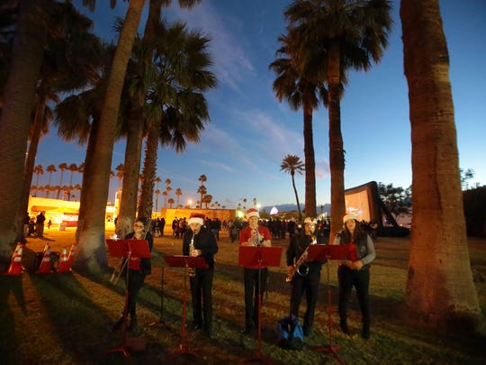 The Coachella Valley Boys and Girls Club's Heatwave band perform during the Indio Winter Festival on Saturday in old town Indio.