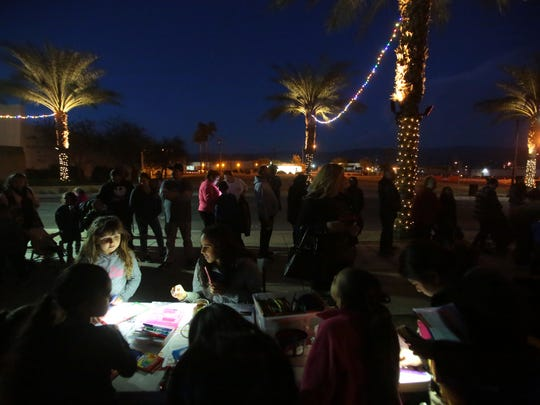 The scene at the Indio Winter Festival on Saturday in old town Indio.