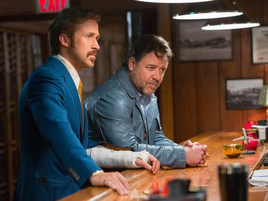"Ryan Gosling (left) and Russell Crowe in the detective thriller ""The Nice Guys."""