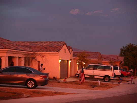 Houses built under a Coachella Valley Housing Coalition program where homeowners built their own house.