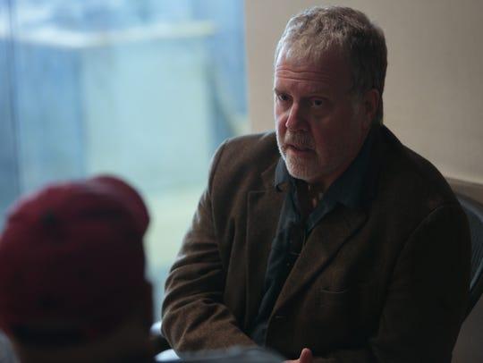 Attorney Greg Belzley in an interview at the Kentucky