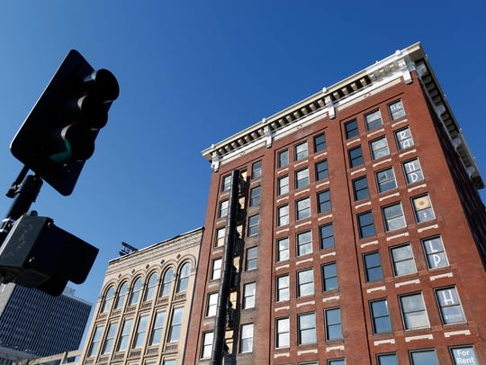 The cornice, an ornamental overhang along the edge of the roof, can be seen on the Randolph Hotel project on the corner of Court Avenue and 4th Street in downtown Des Moines. Andrea Hauer, an economic development coordinator for the city, advocated for the feature before her unexpected death this year.