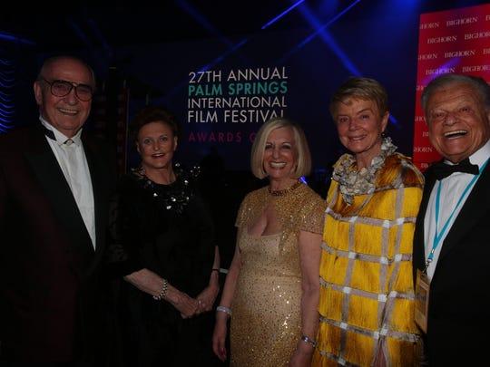 From the left: Jim Houston, JoAnn McGrath, Helene Galen,  Donna MacMillan and Harold Matzner.